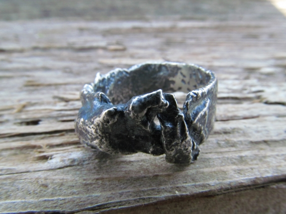 sterling silver fused ring