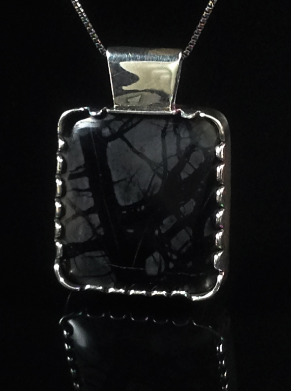 Black Forest Necklace Picasso Marble
