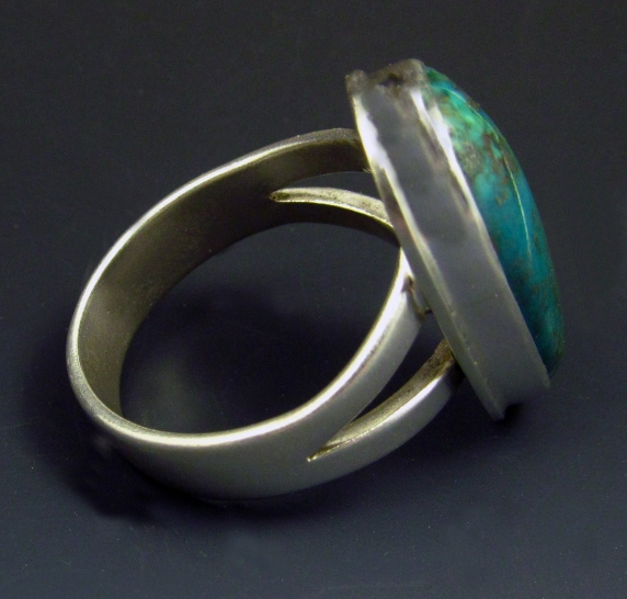 Sterling Silver and Turquoise - Side