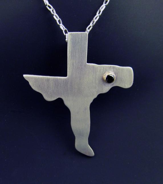 Texas Cross - Sterling, 14k Gold, 2.78mm Black Diamond