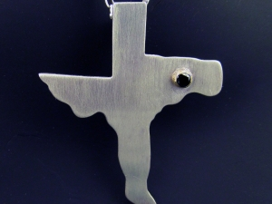 Texas Cross - Sterling, 14k Gold, 2.78mm Black Diamond