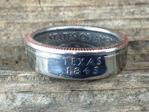 Texas quarter ring